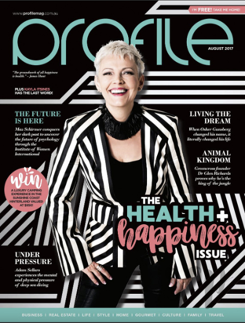 Profile magazine front cover & cover story photography shot